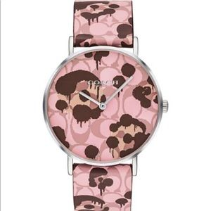 🆕 Coach Perry Pink Watch 36mm Wild Beast